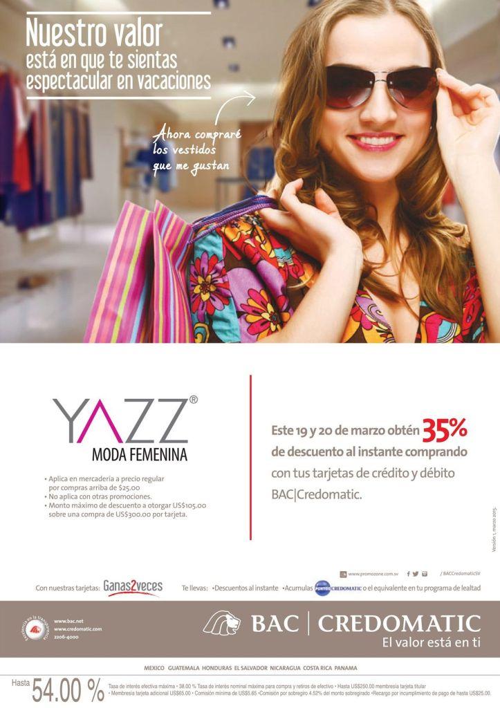 YAZZ moda femenida 35 por cierto de descuento CREDOMATIC - 19mar15