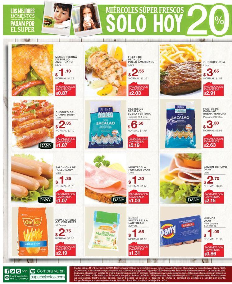 calidad en las ofertas super selectos del miercoles - 11mar15