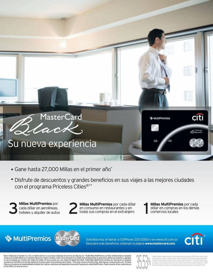 CITI BANK credit card master card BLACK
