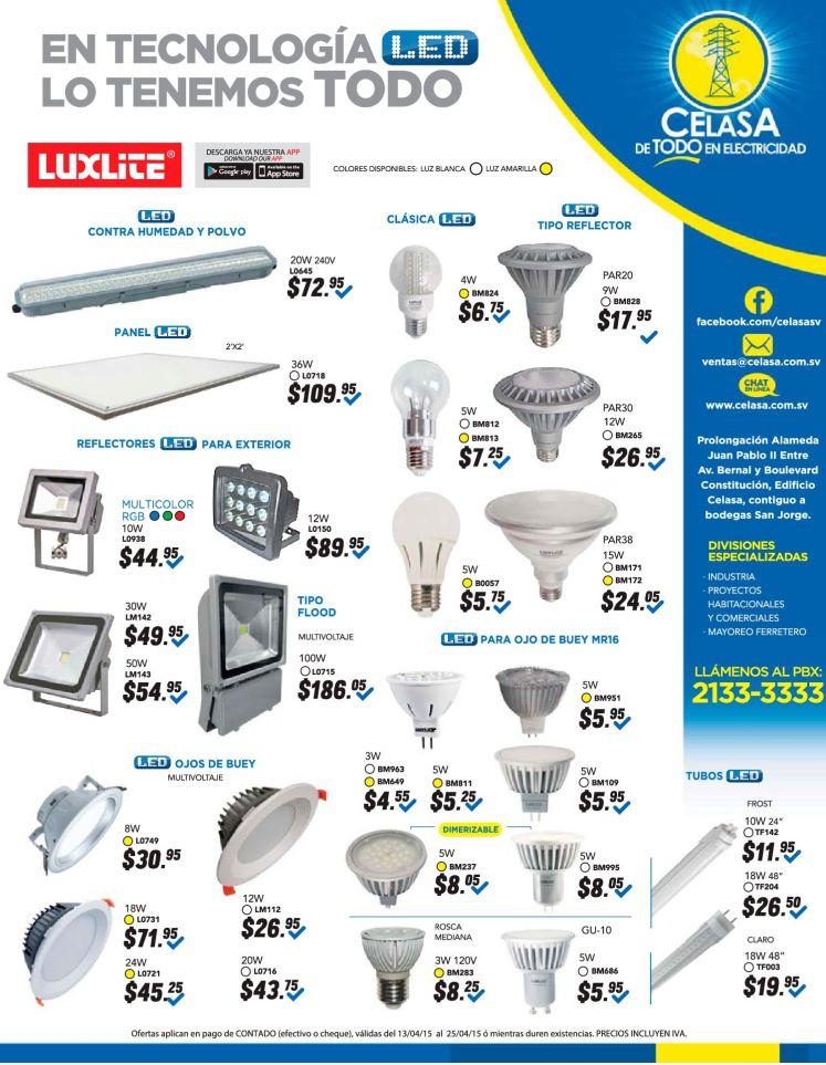 Luces Reflectores y PANEL LED para exteriores