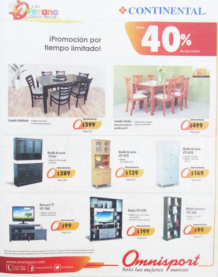 Muebles de madera DESCUENTOS omnisport juegos de comedor y modulos - 10abr15