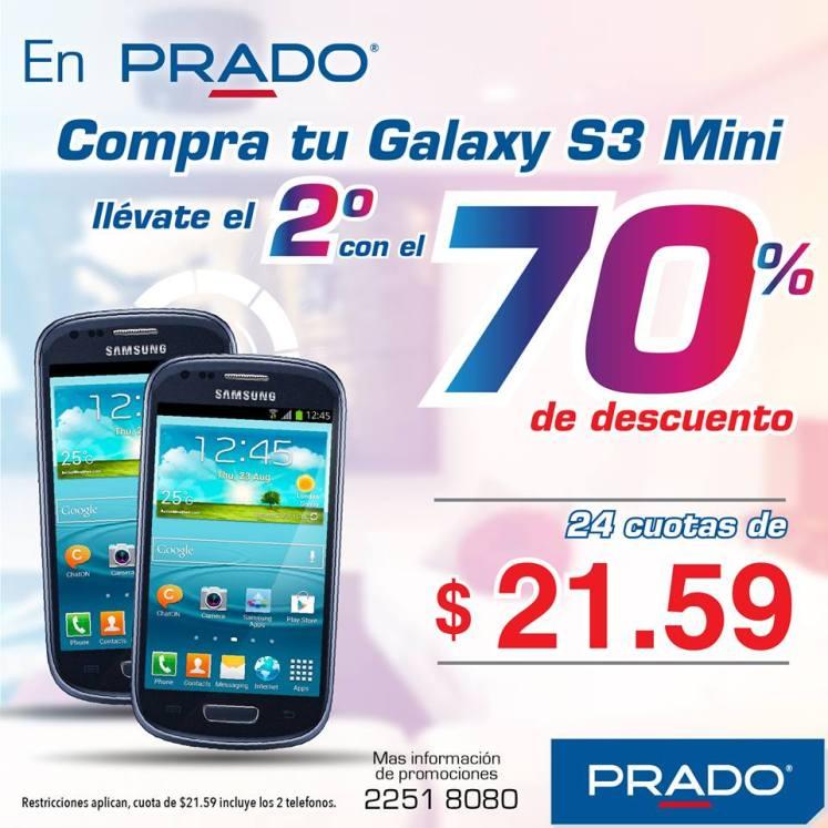 PRADO promocion segundo smartphone SAMSUNG Galaxy S3 mini con 70 OFF
