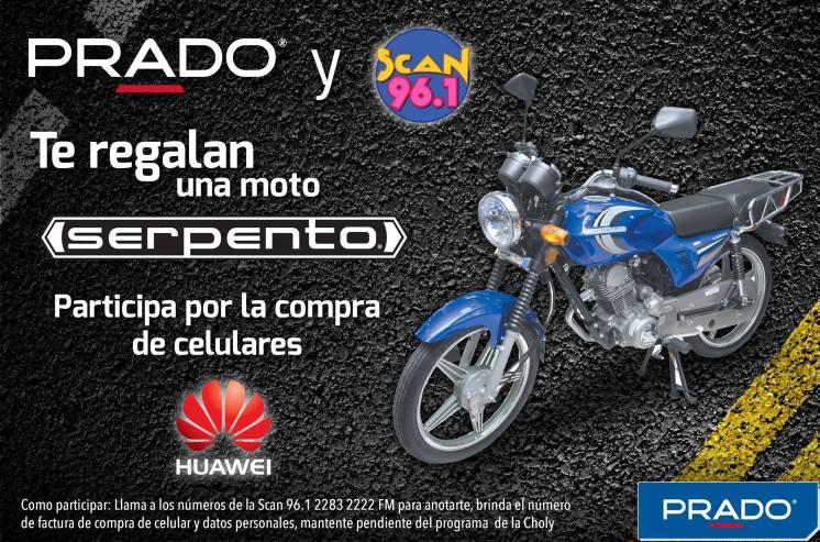 Radio SCAN 96.1 y PRADO te regalan una MOTO SERPENTO participa