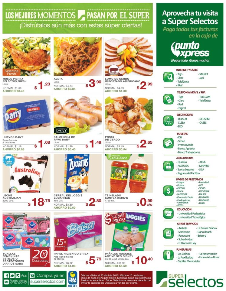 Super precios en pamper HUGGIES - 23abr15