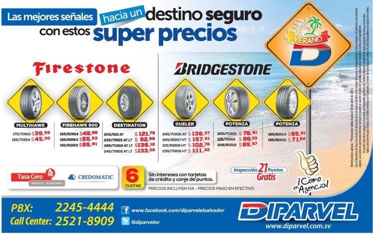 super precios en llantas gracias a DIPARVEL