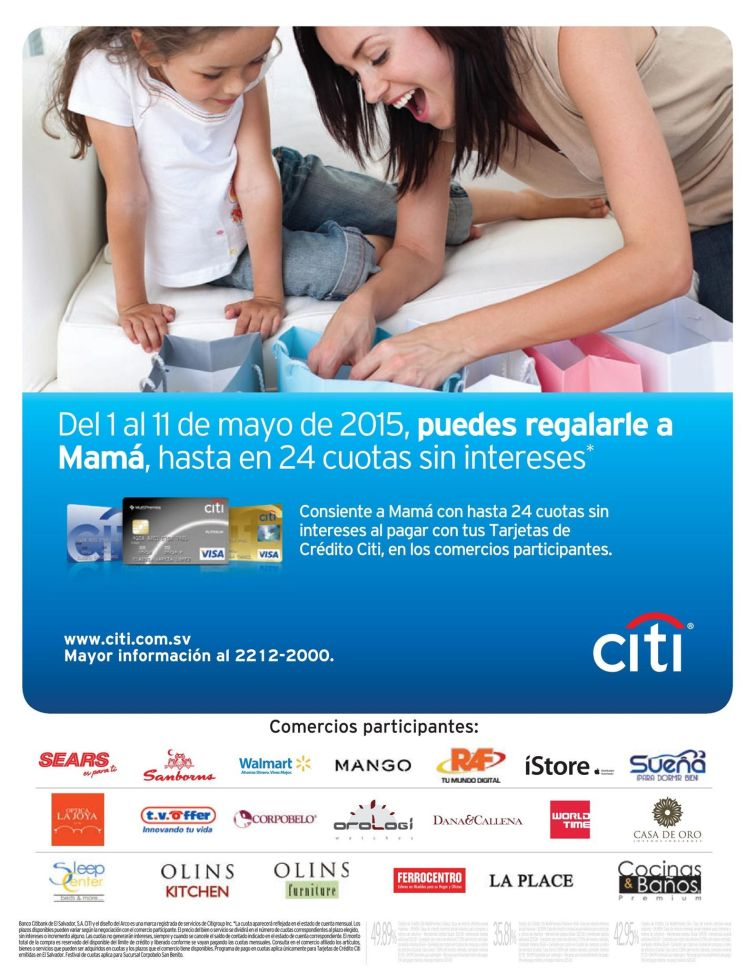 CITI Bank credit card promotions GIFT for MOM