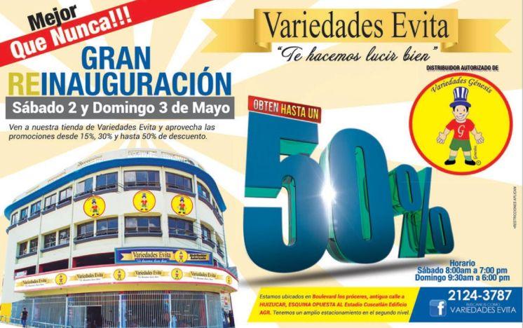 Distribuidor autorizado Variedades Evita con productos de variedades genesis - 02may15