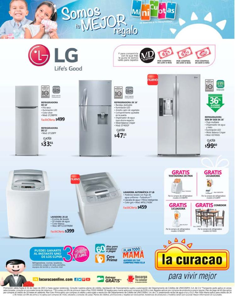 LG electrodomesticos ofertas la curacao mothers weekend - 09may15