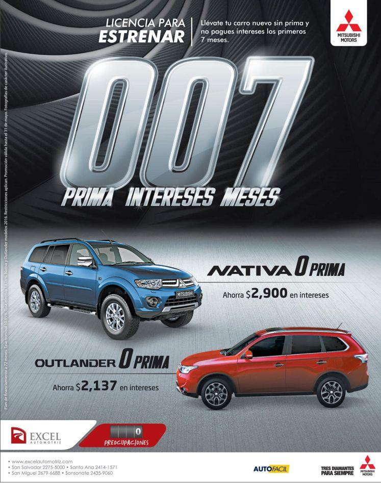 Promocion cero prima para comprar tu auto nuevo MITSUBISHI