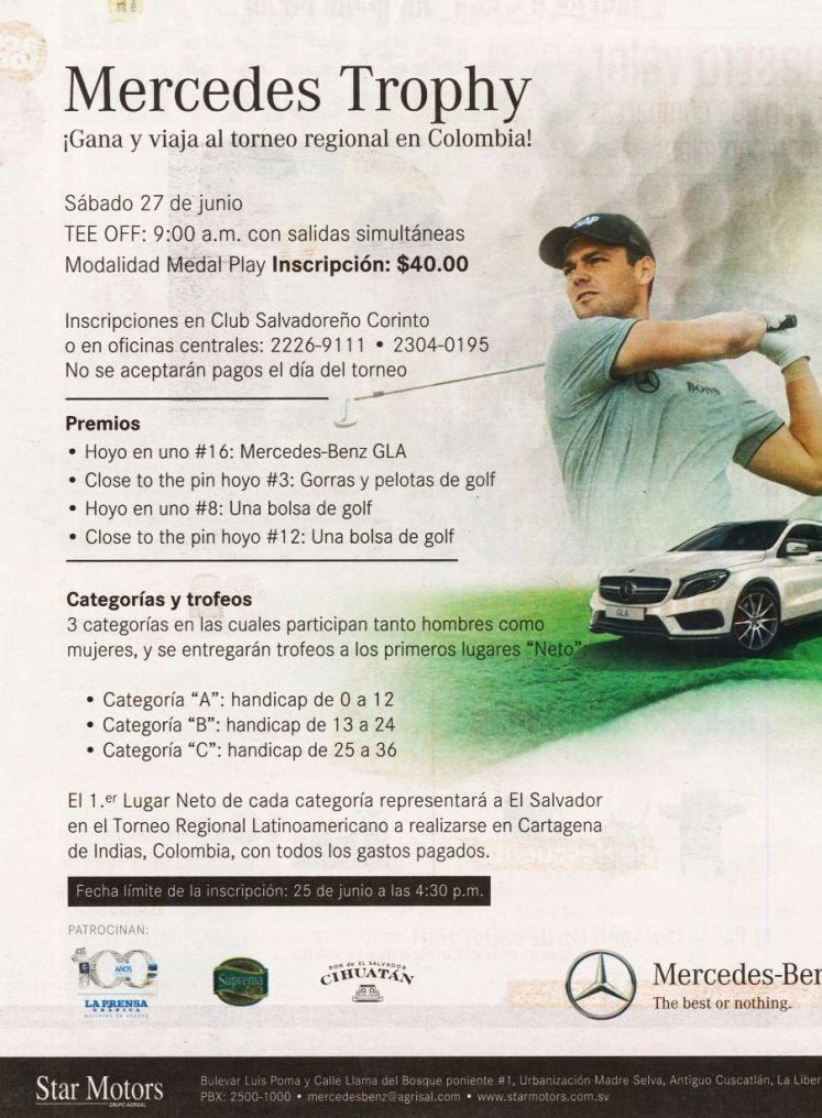 Mercedez Benz GOLF TROPHY tournament