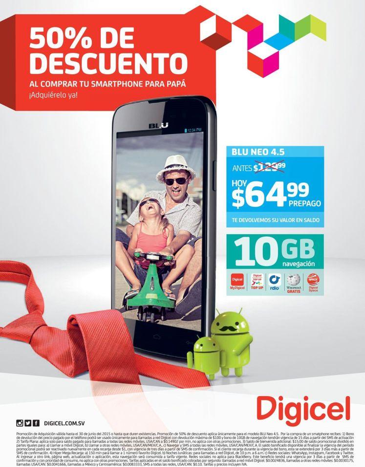Mitad de precio en smartphone ANDROID BLU NEO de DIGICEL - 13jun15