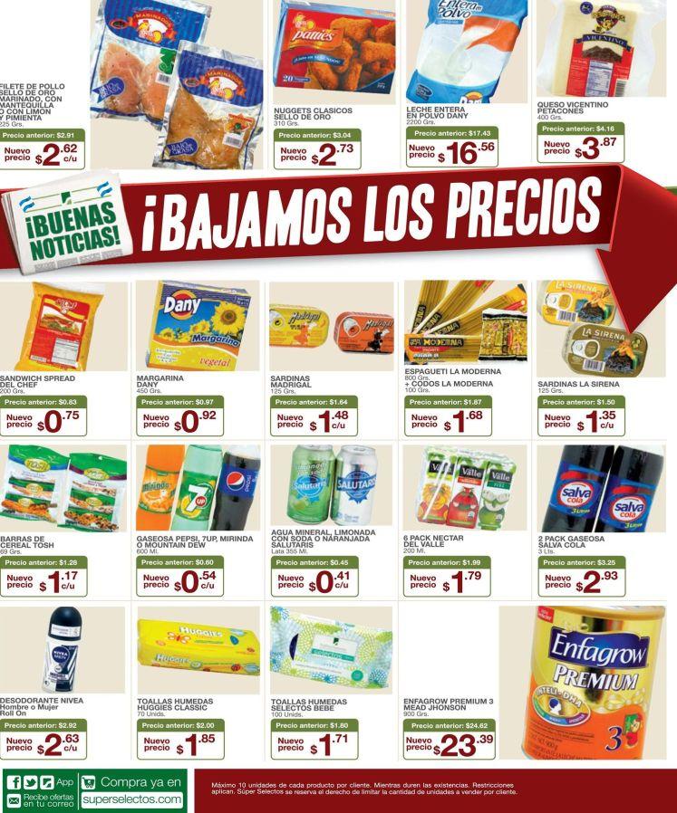 SUPER SELECTOS Aprovecha estas buenas noticias de precios - 20jun15