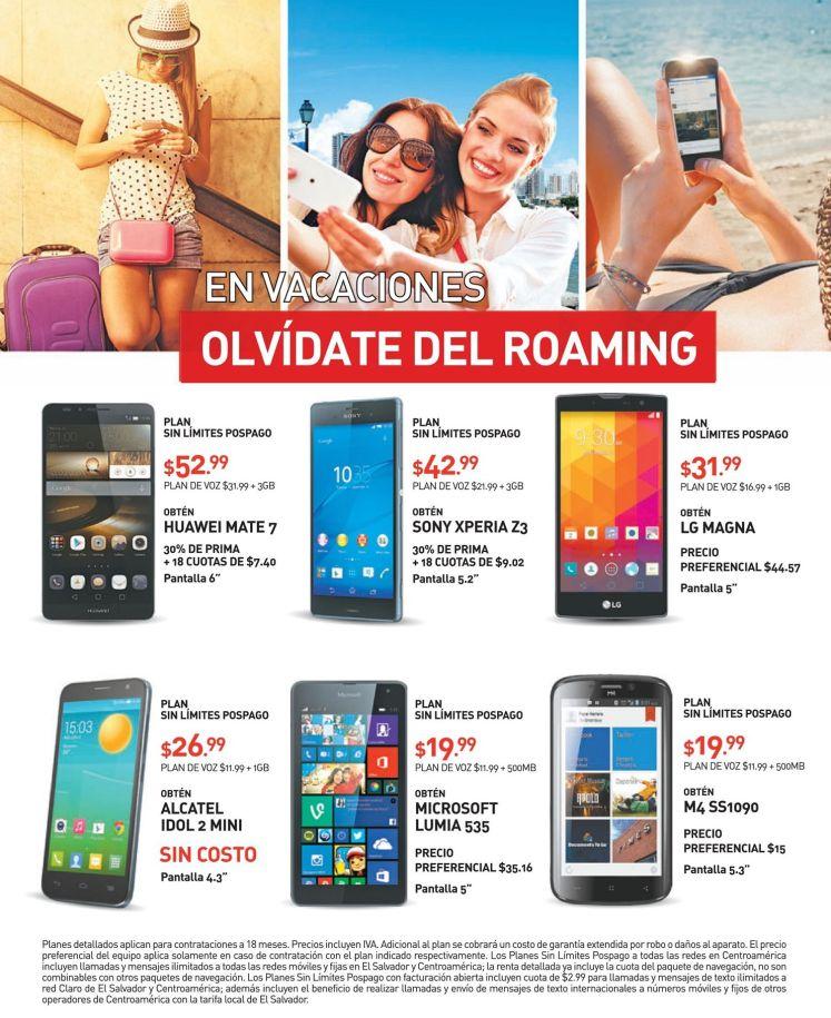 En vacaciones CLARO romaing con excelentes celulares a tu estilo