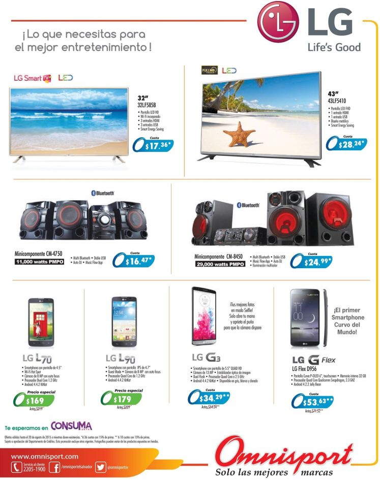 LG  electronic devices deals  gracias a OMNISPORT - 31jul15