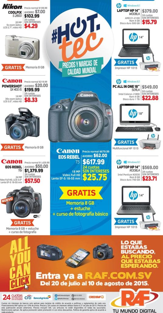RAF all you can CLICK hot deals camera computers and more technology