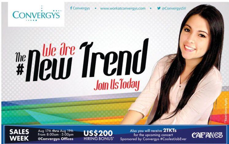 CONVERGYS we are the NEW TREND Jobs el salvador