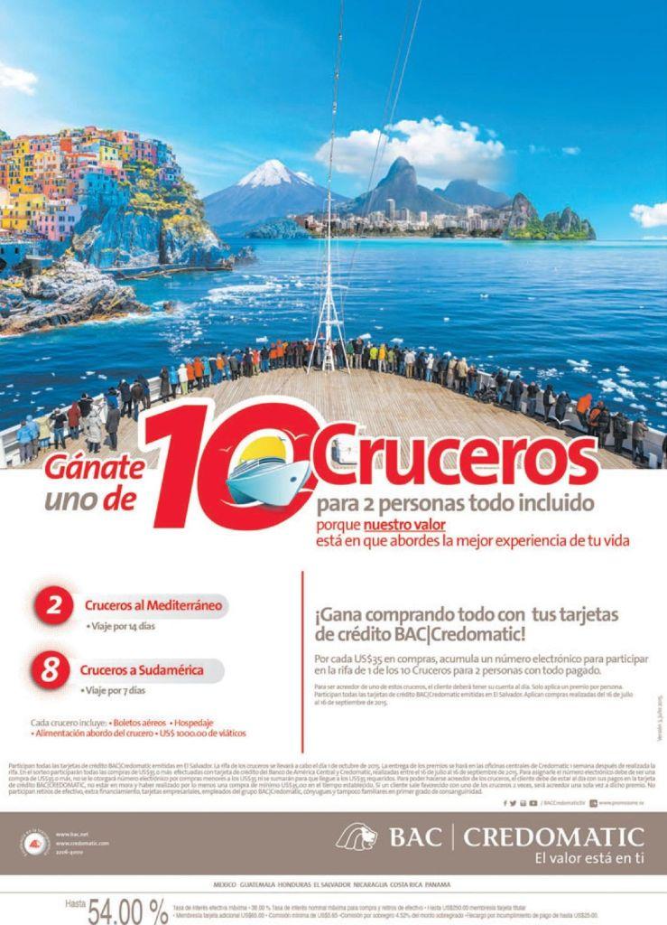 Como ganar viaje en crucero por el mediterraneo o suramerica