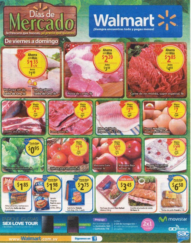 Compras del SUPER y MERCADO ofertas WALMART elsalvador - 25sep15
