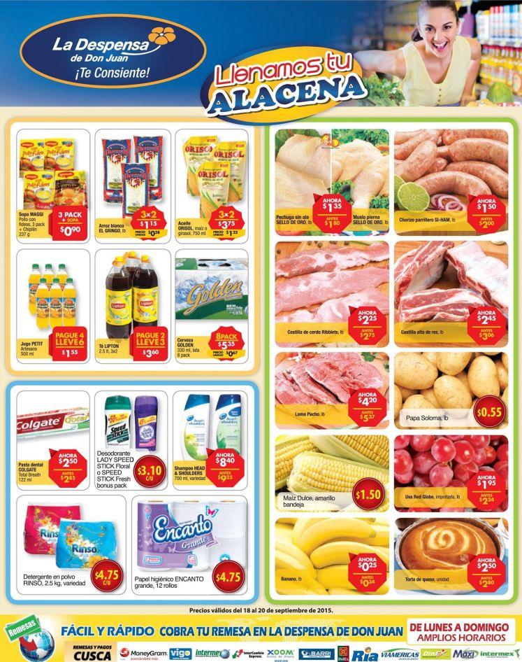 DESPENSA de don Juan Llenamos tu alacena CON PRODUCTOS de calidad al mejor precio  - 18sep15