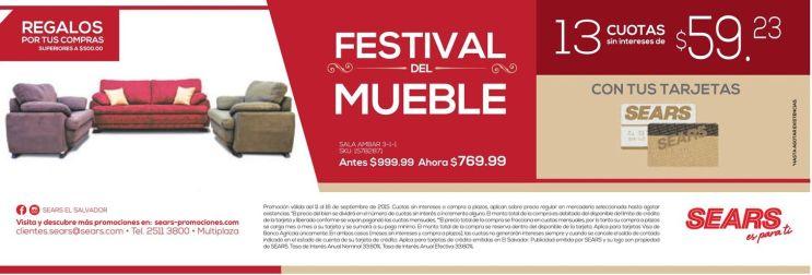 FESTIVAL del muebles con grandes ofertas en SEARS