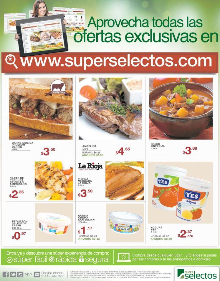 Online exclusive deals via SUPERSELECTOS supermarket store