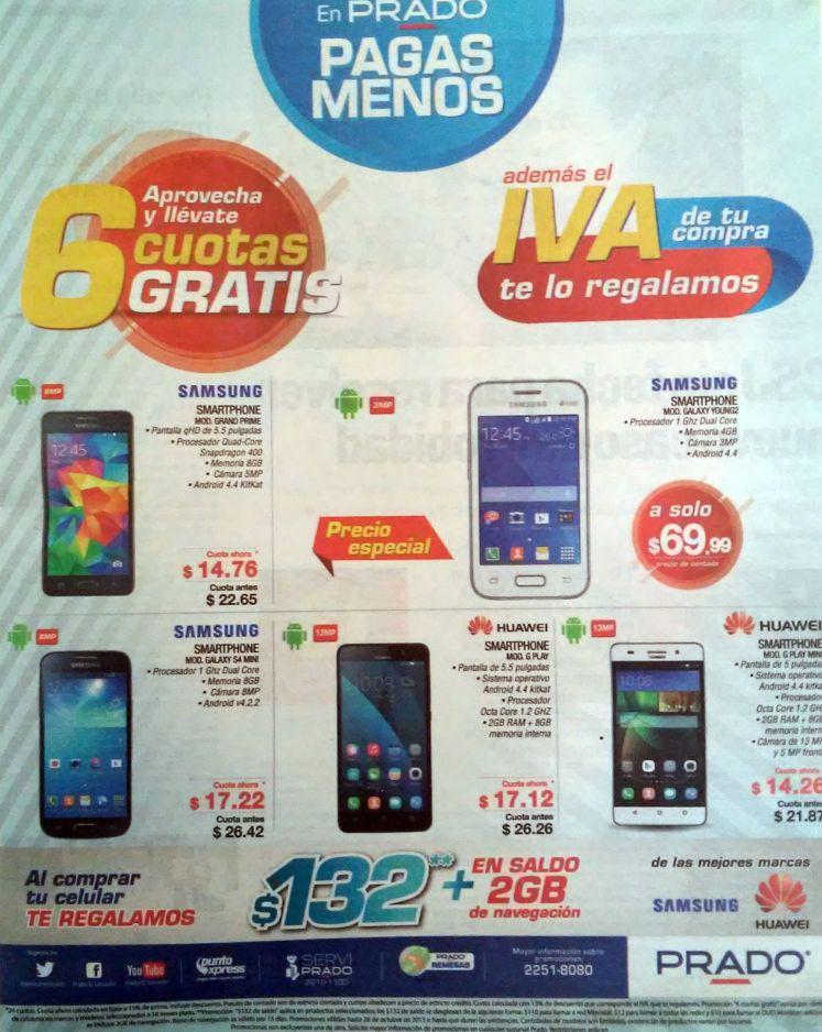 PRADO te regala el valor del IVA en tu compra de celulares - 23oct15