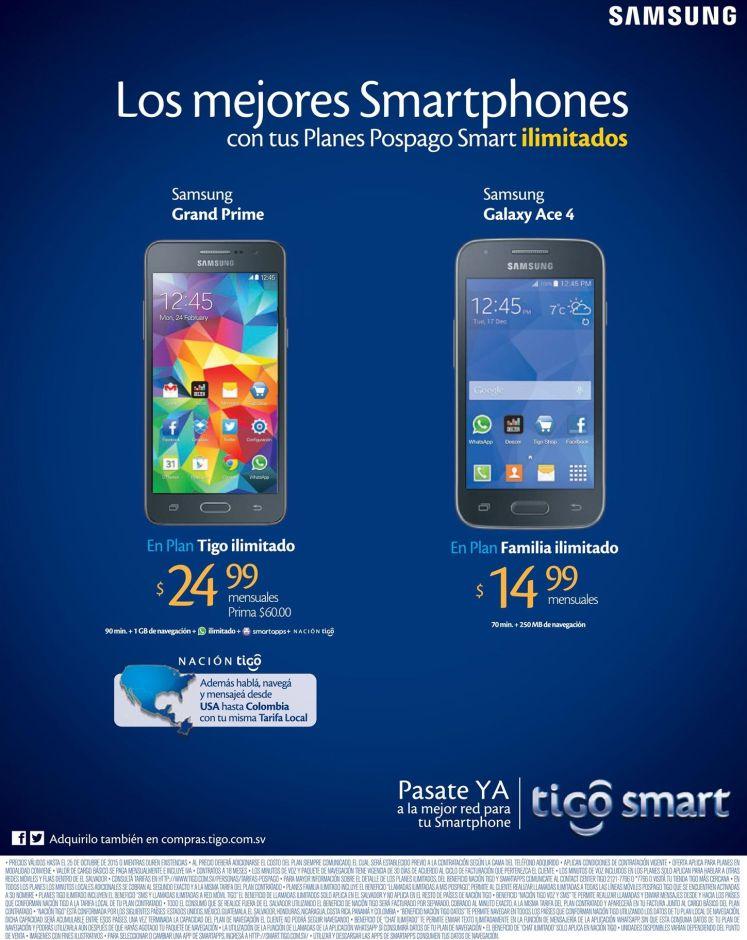 Planes ILIMITADOS en TIGO nacion celulares samsung