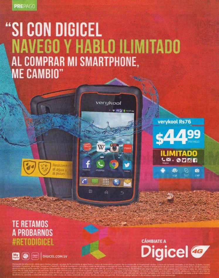 VERYKOOL Rs76 smartphone de digicel por solo 45 doalres