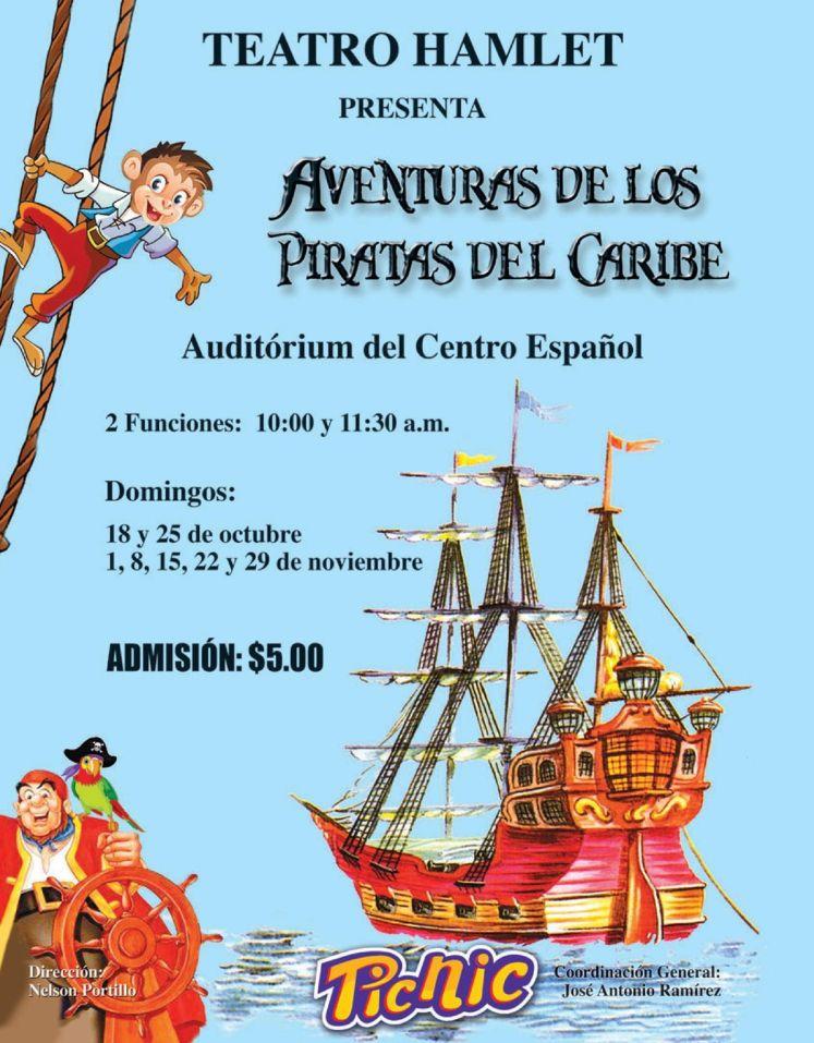 evento de teatro para chicos PIRATAS