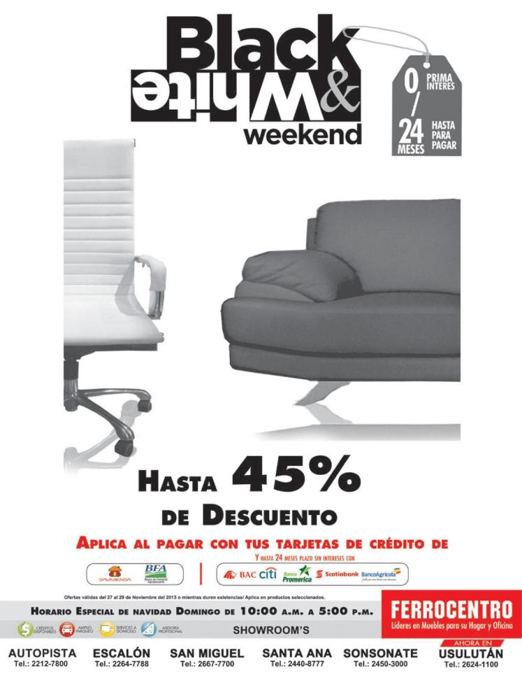 Ferrocentro FURNITUTE black and white DISOCUNTS style and decorating