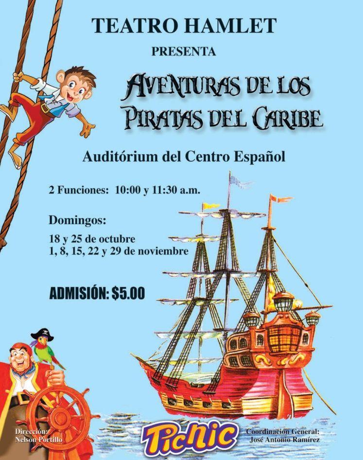 PICNIC galletas te inivta al teatro PIRATAS Del CARIBE