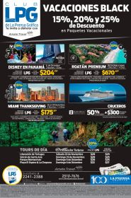 Paquetes de vacaciones BLACK discounts Disney roatan Miami cruceros