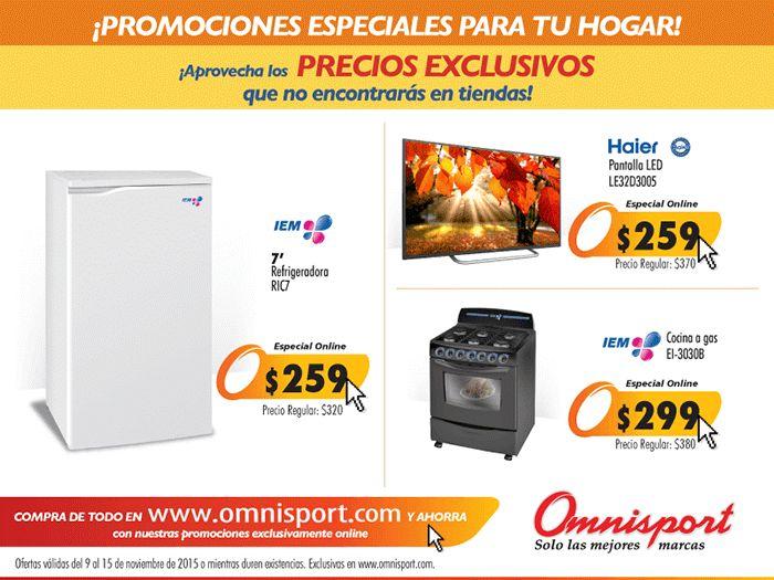 Promociones especiales para tu HOGAR en OMNISPORT online - 09nov15
