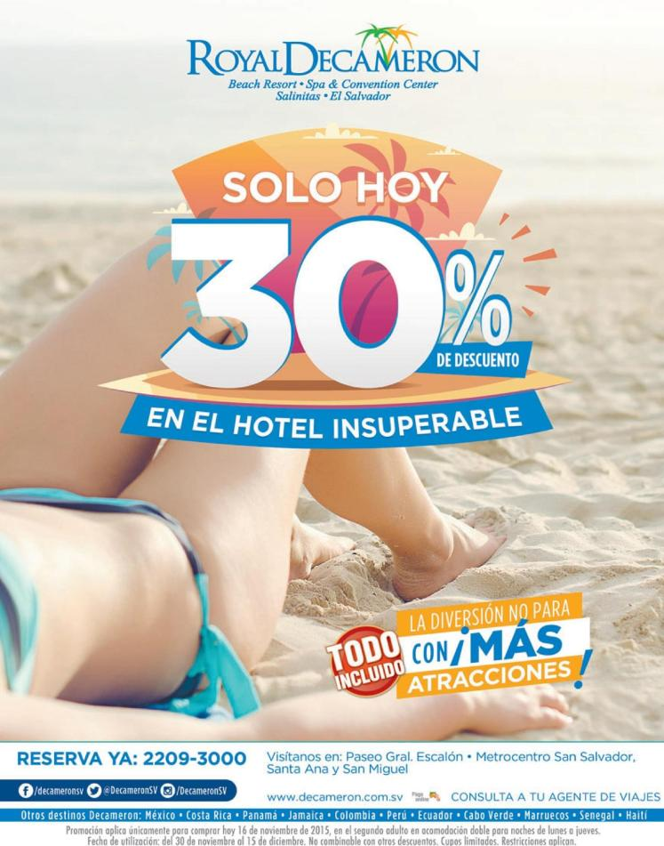 Solo hoy 30 OFF all inclusive beach resort DECAMERON