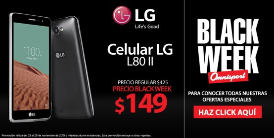 celular LG black promo via OMNISPORT