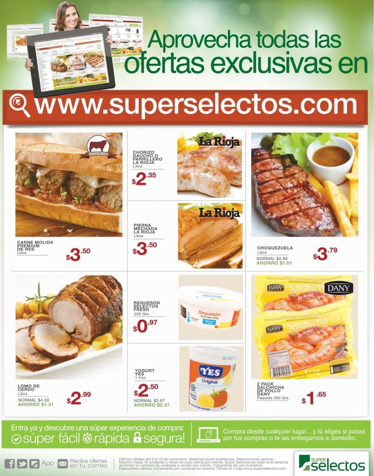 online offers exclusive super selectos friday - 06nov15
