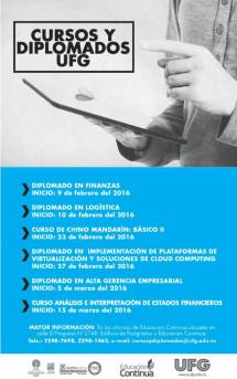 Cursos y Diplomados UFG el salvador Febrero 2016