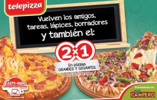 Telepizza del pollo campero al 2x1 Enero 2016