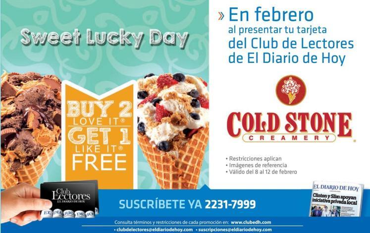 COLDS Stone creamery FREE ice cream on febreary 2016