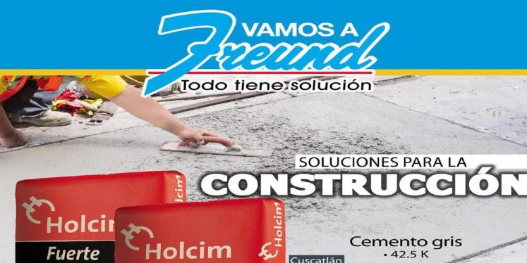 Cuadernillo de ofertas FREUND materiales de contruccion Febrero 2016