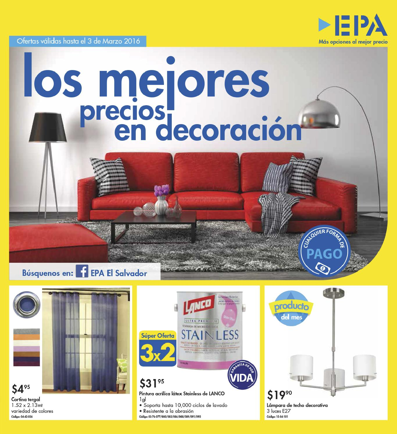 Epa folleto de ofertas en decoracion de interiores for Ofertas decoracion hogar