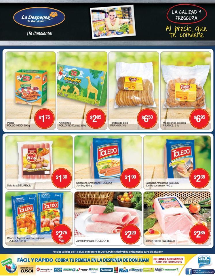 Embutidos y comida precocidas enpromocion LA DESPENSA - 15feb16