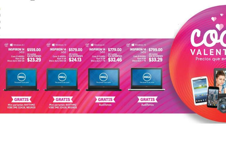 Escoge to LAPTOP DELL nueva con promociones RAF - 26feb16