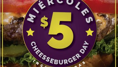 Gourmet Burger Copaney el salvador CHEESSE BURGER 5 dolares ahora miercoles