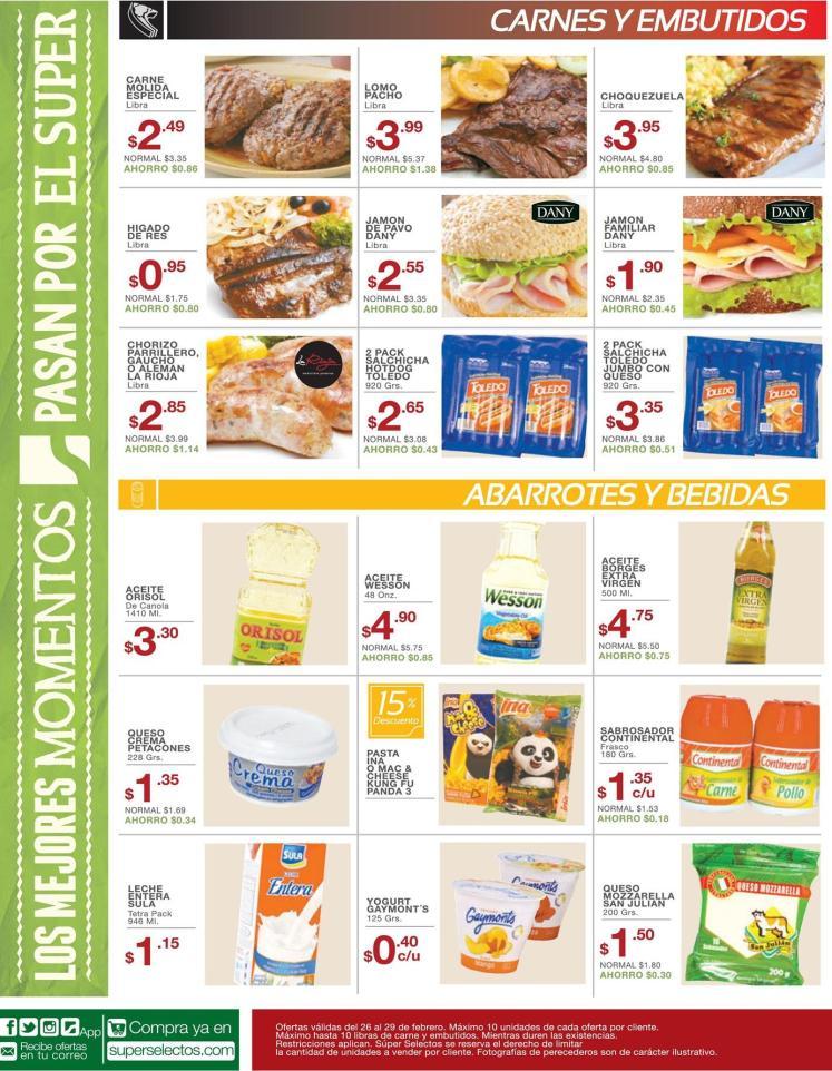Selectos carnes molida especial en oferta - 26feb16