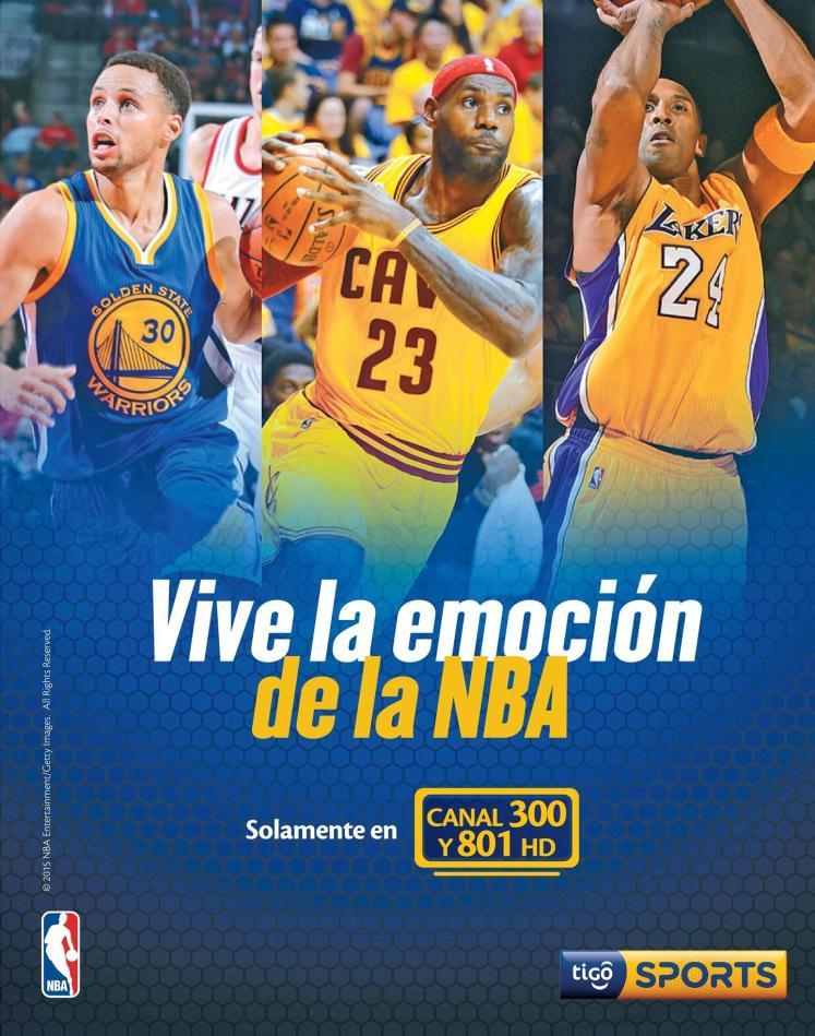 Vive la emocion de NBA 2016 en alta definicion via TIGO SPORTS
