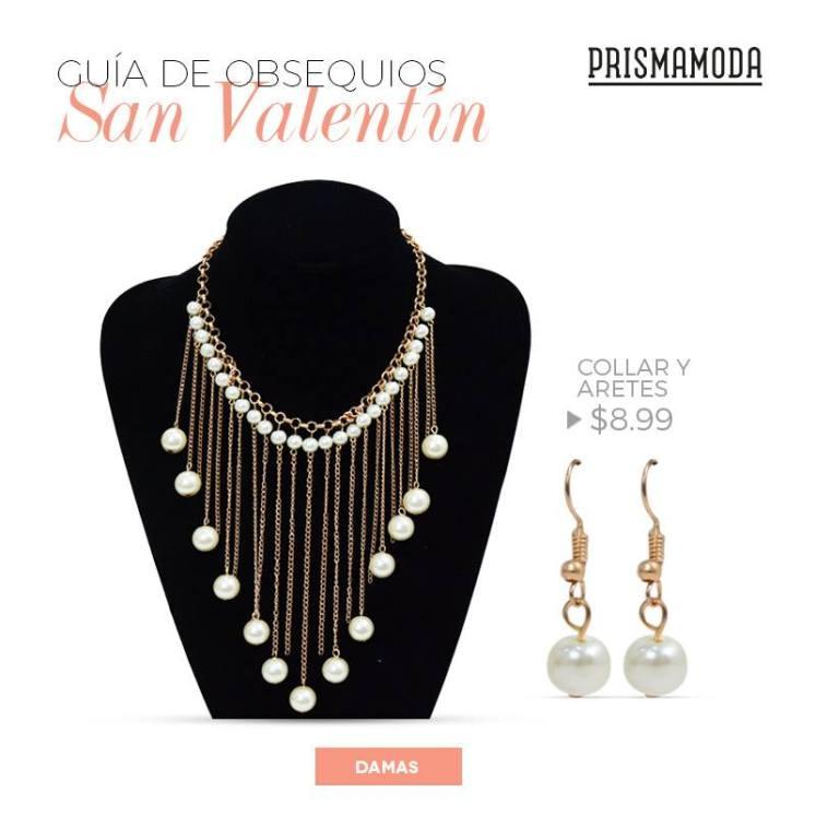 collar y aretes de perla Guia de obsequios SAN VALENTIN 2016