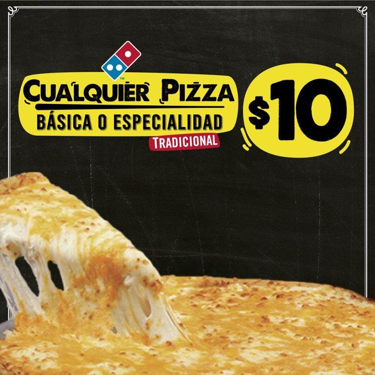 DOMINOS pizza promocion 10 por cualquier pizza