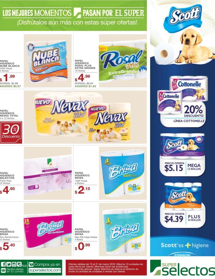 Descuentos en papel higienico ahora martes 15mar16