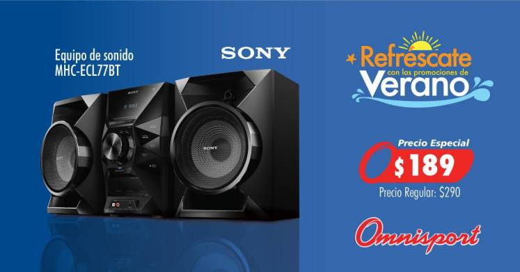 Precios especial equipo de sonido SONY  189 dolares